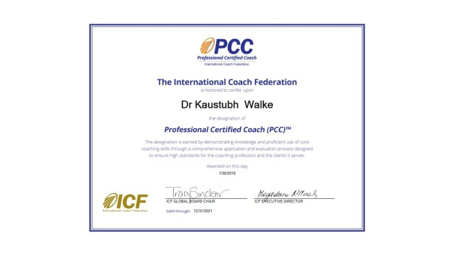 Professional Certified Coach – PCC (ICF) – KTthinks
